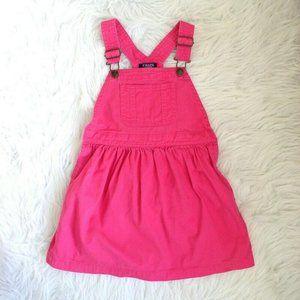 Chaps Ralph Lauren Girls Pink Jumper Overall Style